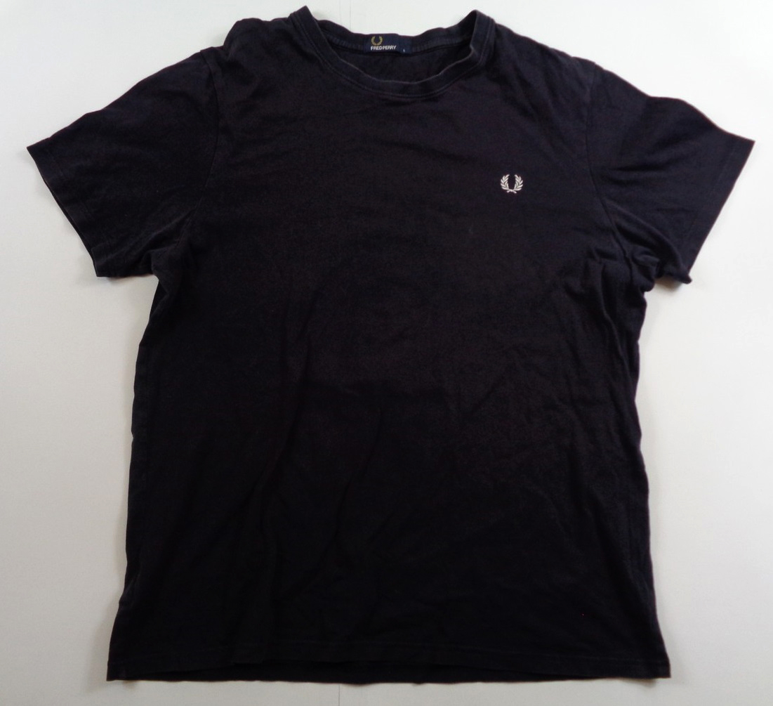 Fred Perry Classic Casual T-shirt Navy Blue L
