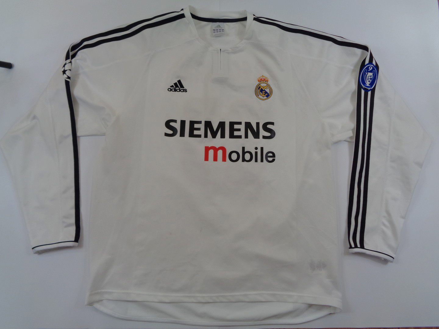 84eb85bb8 2003-04 Real Madrid Home LS Shirt XL  23 David BECKHAM – vintage ...