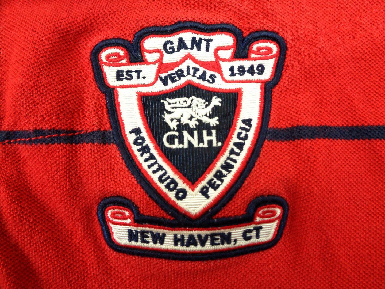 b4e6eb2501b Gant Red Polo Shirt Casual USA M – vintage clothes & football shirts
