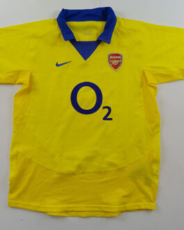2003-04 Arsenal Away Shirt LB XS Yellow Nike