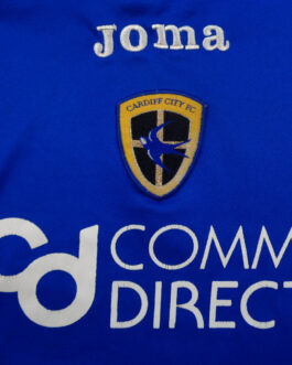 2007-08 Cardiff City Home Shirt M Medium Blue Joma