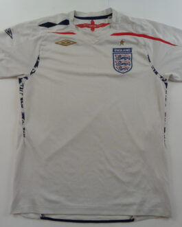 2007-09 England Home Shirt M Medium White Umbro