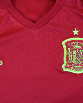 2015-16 Spain Home Shirt M Medium Red Adidas