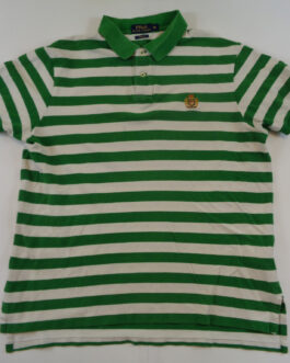 RALPH LAUREN Classic Casual Sport Polo Shirt Striped XL Extra Large