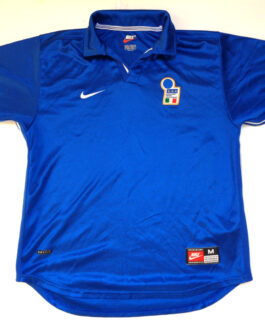 1997-99 Italy Home Shirt M Medium Blue Nike