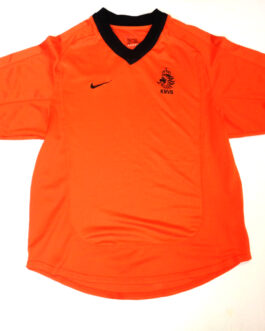 2000-02 Holland Home Shirt S Small Orange Nike