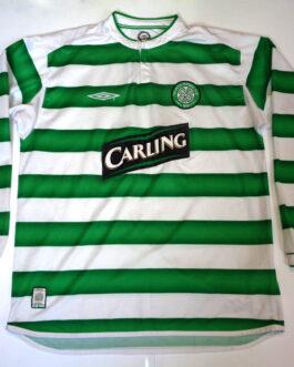 2003-04 Celtic Glasgow Home Long Sleeve Shirt L Large Umbro