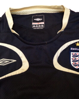 2001-2003 ENGLAND Training Vest Football Shirt XL Extra Large Black Umbro