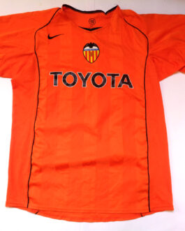 2004/05 Valencia Away Shirt L Large Orange Nike