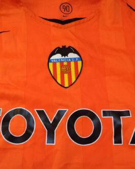2004/05 Valencia Away Shirt L Large Orange Nike