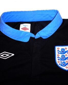 2011/13 ENGLAND Away Football Shirt L Large Black Umbro