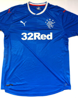2016-18 Glasgow Rangers Home Shirt XL Extra Large Blue Puma