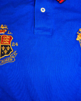 RALPH LAUREN Polo Shirt Casual Classic Blue Size S Small BIG PONY