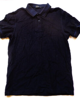 FRED PERRY Polo Shirt Casual Classic Navy Blue Size L Large