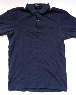 FRED PERRY Polo Shirt Casual Classic Navy Blue Size XS Extra Small