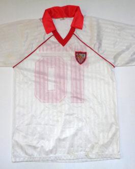1992 SEVILLA FC Home Replica M Medium White #10 MARADONA