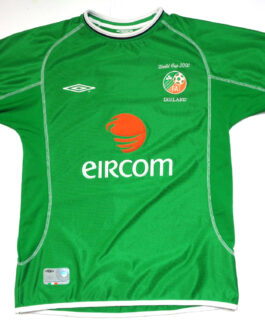 2002 IRELAND WORLD CUP Home Football Shirt M Medium Green Umbro