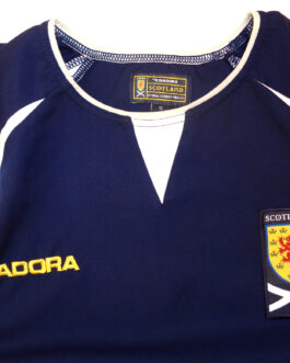 2003/05 SCOTLAND Home Football Shirt XL Extra Large Navy Blue Diadora