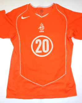 2004/06 HOLLAND Home Football Shirt S Small Orange Nike #20 SEEDORF