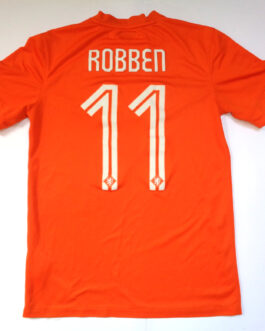 2014/16 HOLLAND Home Football Shirt S Small Orange Nike #11 ROBBEN