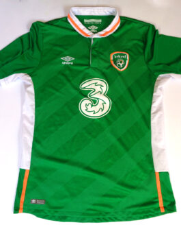 2016/18 IRELAND Home Football Shirt L Large Green Umbro