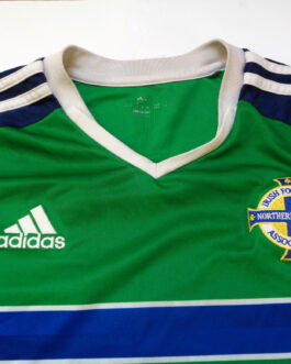 2016 NORTHERN IRELAND Home Football Shirt M Medium Green Adidas EURO 2016