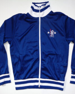 1975/81 CHELSEA LONDON Training Blouse Track Jacket Football Shirt M Medium Score Draw
