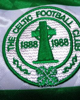 1987/89 CELTIC GLASGOW Football Home Shirt S Small Score Draw