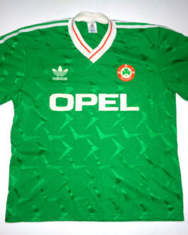 1990/91 IRELAND Home Football Shirt L Large Green Adidas