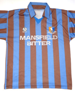 1997/98 MANSFIELD TOWN Third 3Kit Shirt XL Extra Large Grey Beaver