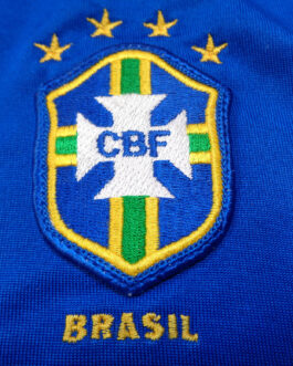 2000/02 BRAZIL Away Football Shirt XL Extra Large Blue Nike