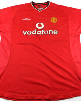 2000/02 MANCHESTER UNITED Home Shirt XL Extra Large Red Umbro