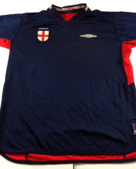 2002/04 ENGLAND Away Football Shirt M Medium Red Umbro