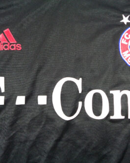 2003/05 BAYERN MUNICH Football Away Shirt XL Extra Large Black Adidas Champion's League Cup