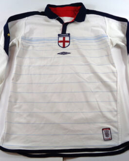 2003/05 ENGLAND Home Football L/S Shirt S Small White Umbro