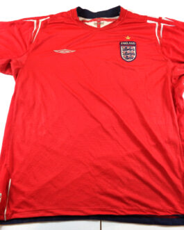 2004/06 ENGLAND Away Football Shirt XL Extra Large Red Umbro