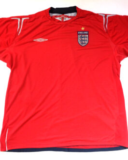 2004/06 ENGLAND Away Football Shirt XXL 2XL Red Umbro