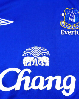 2005/06 EVERTON Home Shirt M Medium Blue Umbro