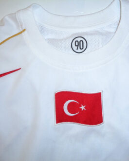 2006/07 TURKEY Away Football Shirt M Medium White Nike