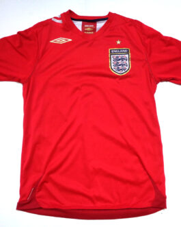 2006/08 ENGLAND Away Football Shirt S Small Red Umbro