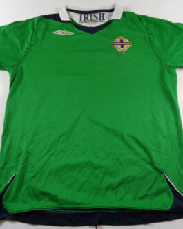 2006/08 NORTHERN IRELAND Home Football Shirt L Large Green Umbro