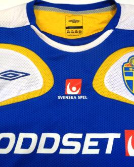 2006/08 SWEDEN Training Vest Football Shirt XXL 2XL Blue Umbro