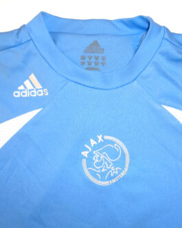 2007/08 Ajax Amsterdam Training Shirt XS Extra Small Blue Adidas