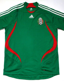 2007/08 MEXICO Home Football Shirt M Medium Green Adidas