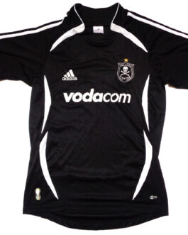 2007/08 ORLANDO PIRATES Home Shirt S Small Black Adidas