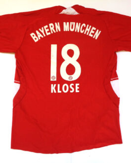 2007/09 BAYERN MUNICH Football Home Shirt XS Extra Small Red Adidas #18 Miroslav KLOSE