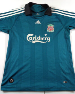 2008/09 LIVERPOOL Third 3Kit Shirt XS Extra Small Green Adidas