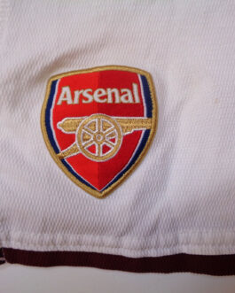 2008/10 ARSENAL LONDON Away Football Shorts LB Large Boys White Nike
