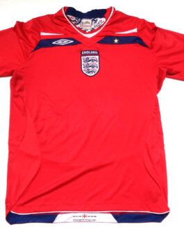 2008/10 ENGLAND Away Football Shirt L Large Red Umbro