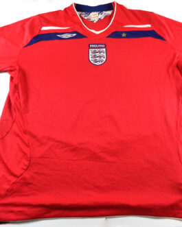2008/10 ENGLAND Away Football Shirt XXXL 3XL Red Umbro